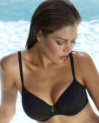 Anna Balconett bikini felső, fekete
