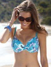 Loren bikini felső, kék