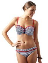 Lucille bandeau bikini felső, navy