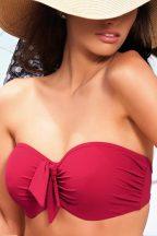Veronica Bandeau bikini felső, piros